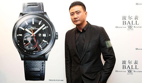 【PHOTO】波尔表公司隆重宣布与宝马汽车(BMW)推出全新手表系列。男演员胡军出席9/20的北京记者招待会。